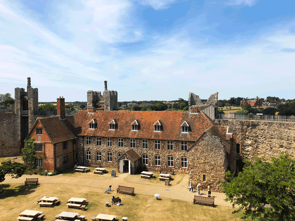 View of the workhouse inside the walls of Framlingham Castle