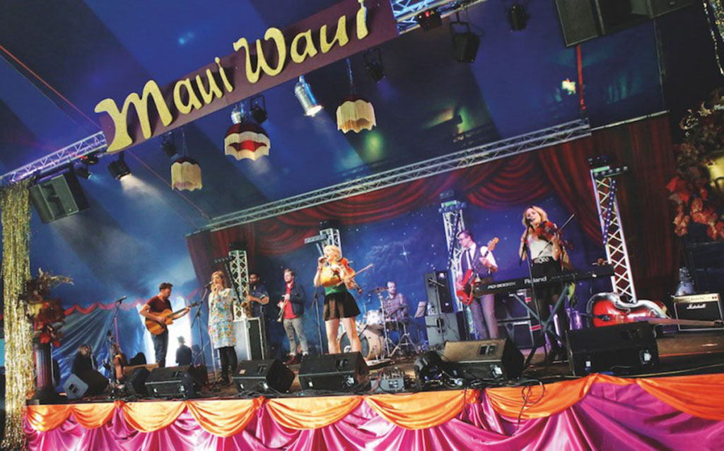 Up and coming band plays the main stage at Maui Waui