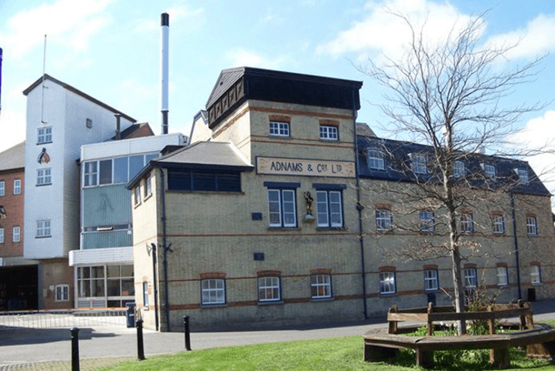The outside of the Adnams brewery