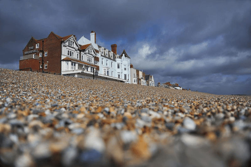 View of the Brudenell Hotel from the beach