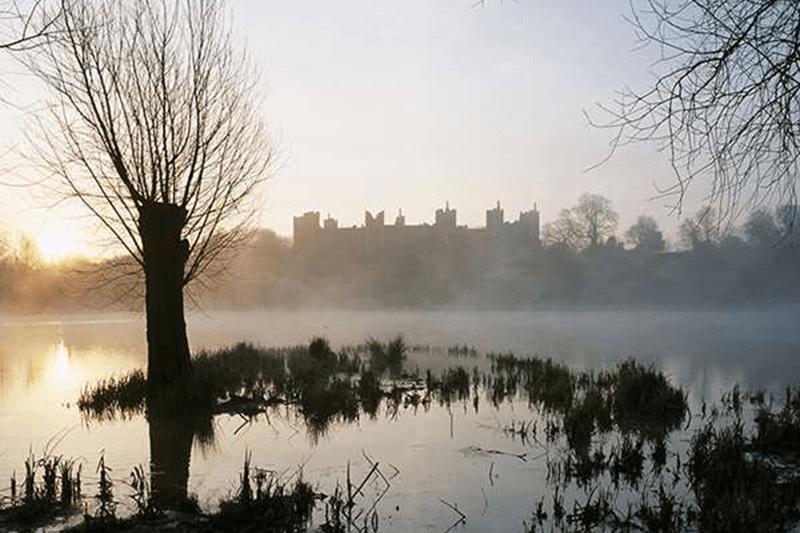 Misty Framlingham Castle