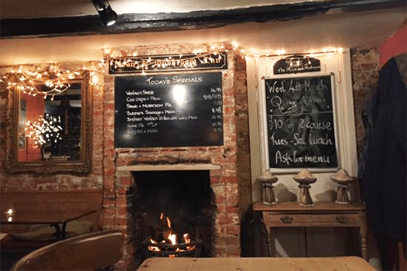 Open fire at the Moon and Mushroom Suffolk
