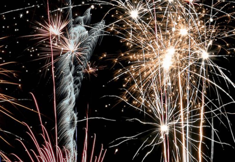 Fireworks over Framlingham