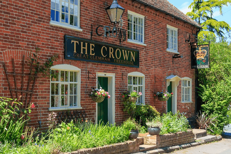 Outside The Crown, Great Glemham Suffolk