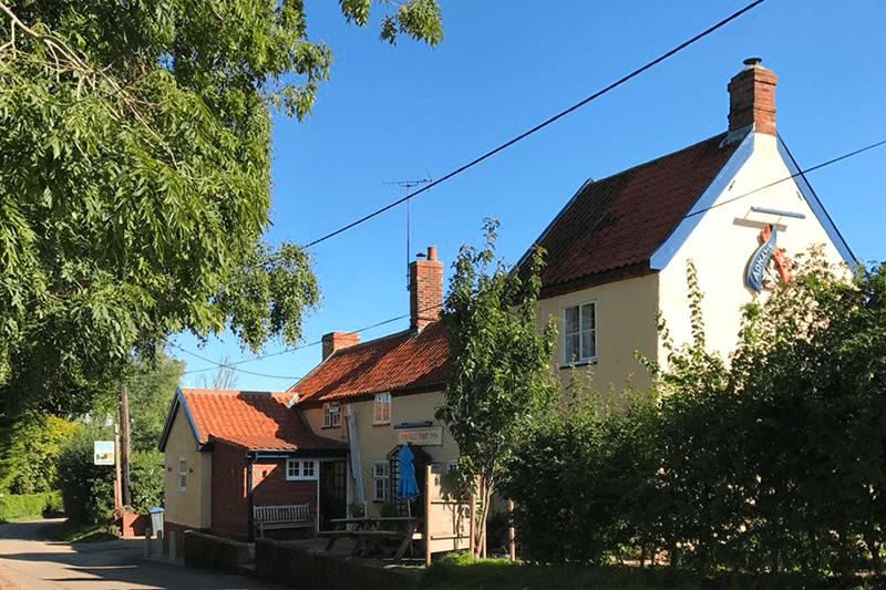 Outside The Eels Foot Inn, Suffolk
