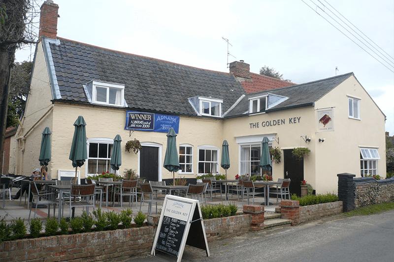 Outside The Golden Key, Snape, Suffolk