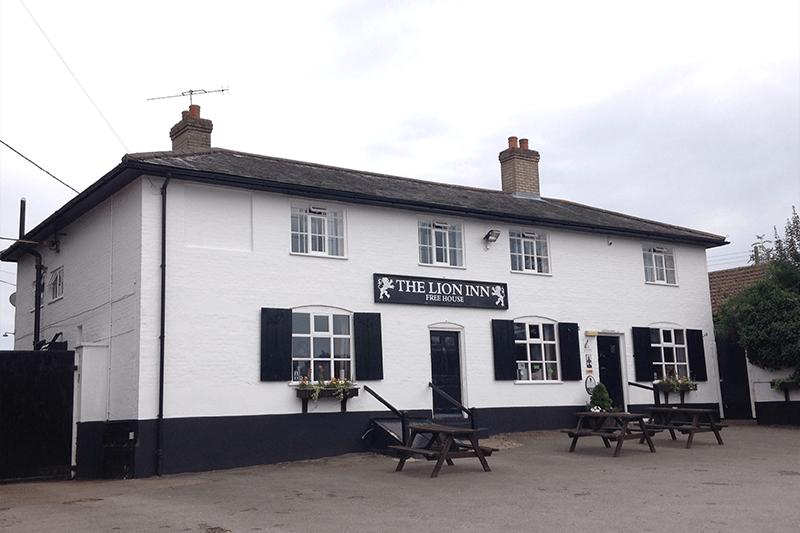 Outside The Lion Inn, Suffolk