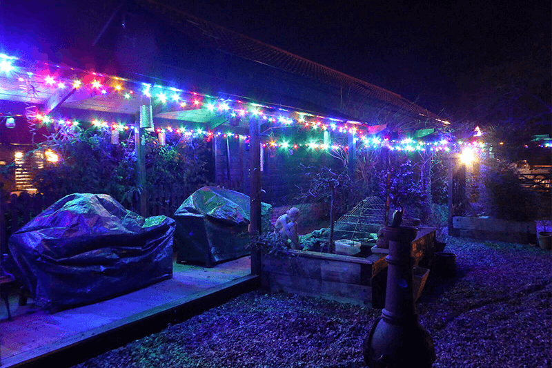 Christmas lights at Mollett's Farm