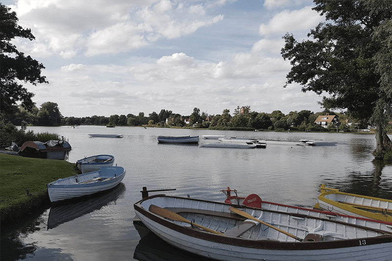 Boats on the Meare at Thorpeness