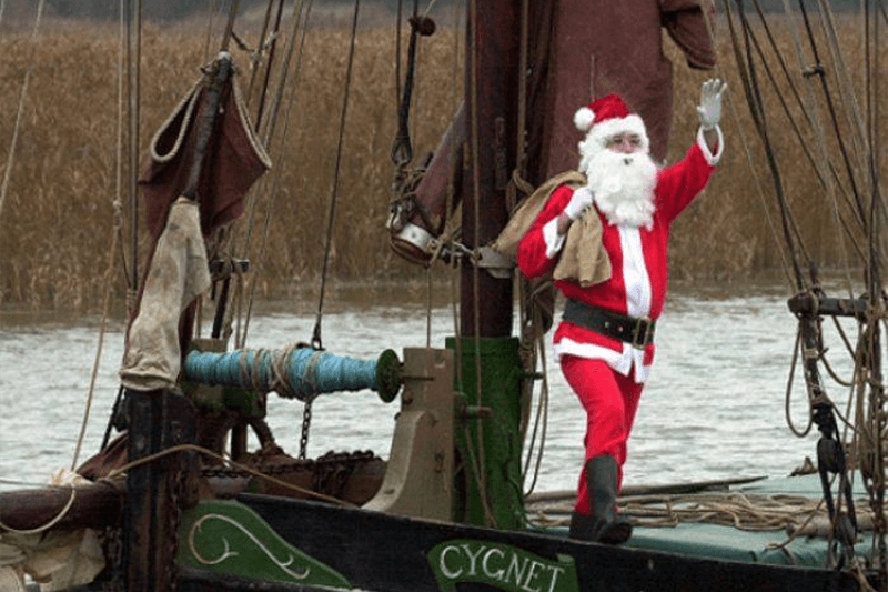 Santa at Snape Maltings