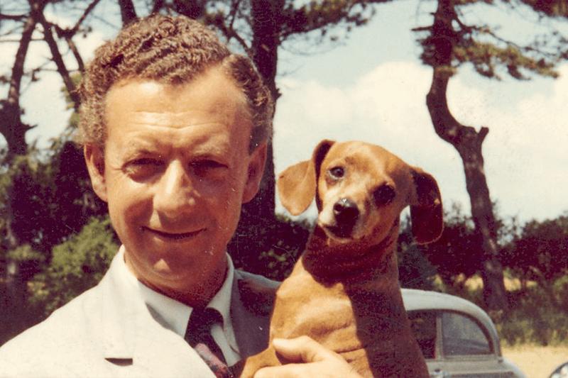 Benjamin Britten and dog