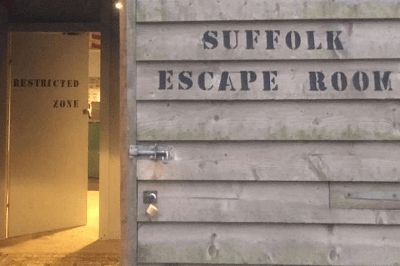 Entrance to Suffolk Escape Room