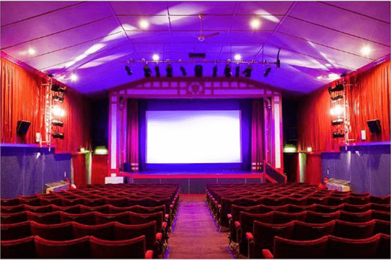 Leiston Film Theatre interior - showing seats and screen
