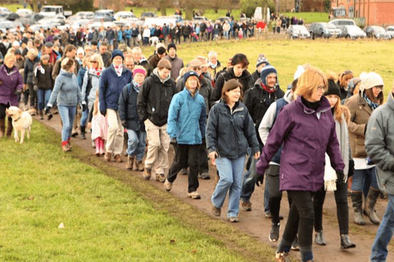 Hundreds of walkers around Glemham Hall