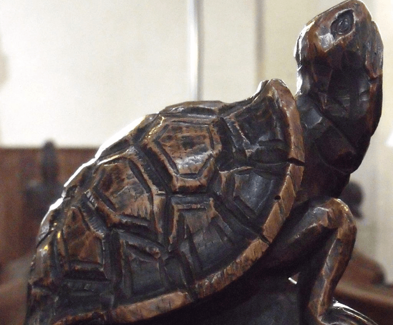Medieval Tortoise carving