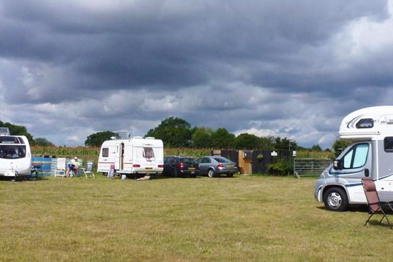 Caravans on site