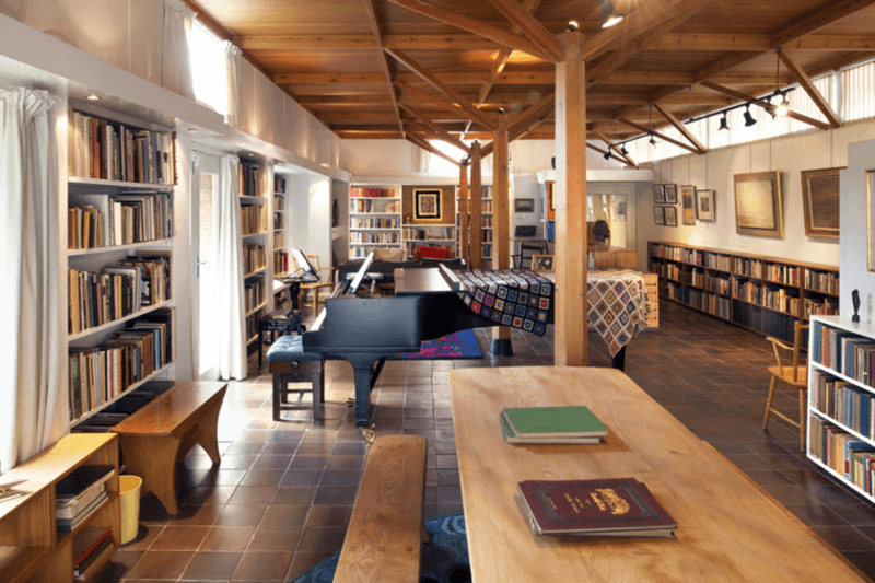 Interior shot of the Red House Library