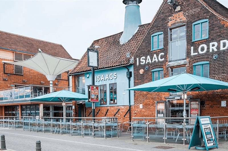 Isaacs on the Quay Ipswich Suffolk