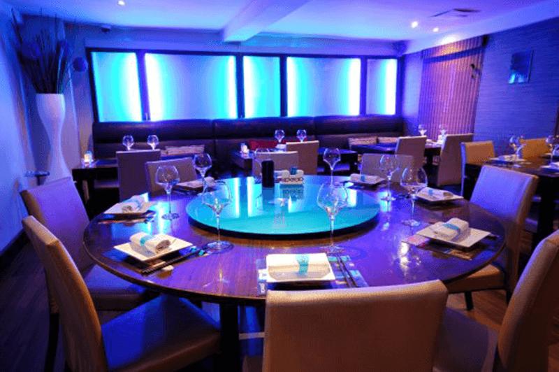 Interior of Aqua Eight Restaurant Ipswich