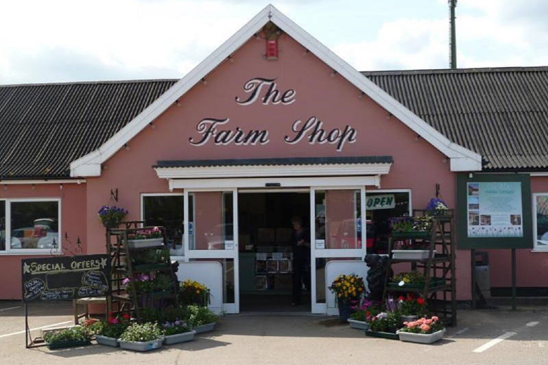 Entrance to the friday street farm shop