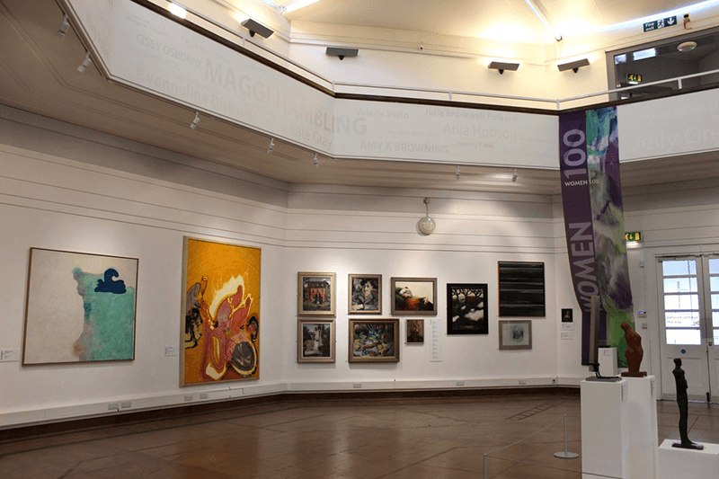 Interior Shot of Ipswich Art Gallery