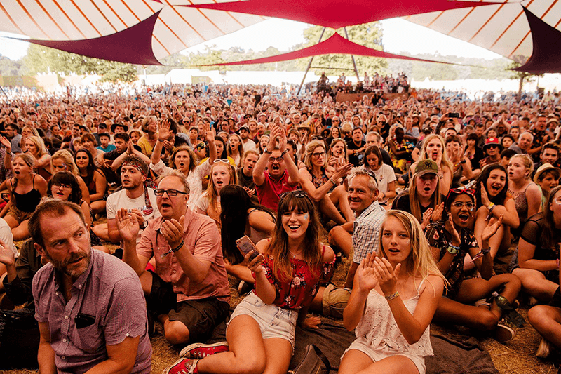 Comedy Tent crowd