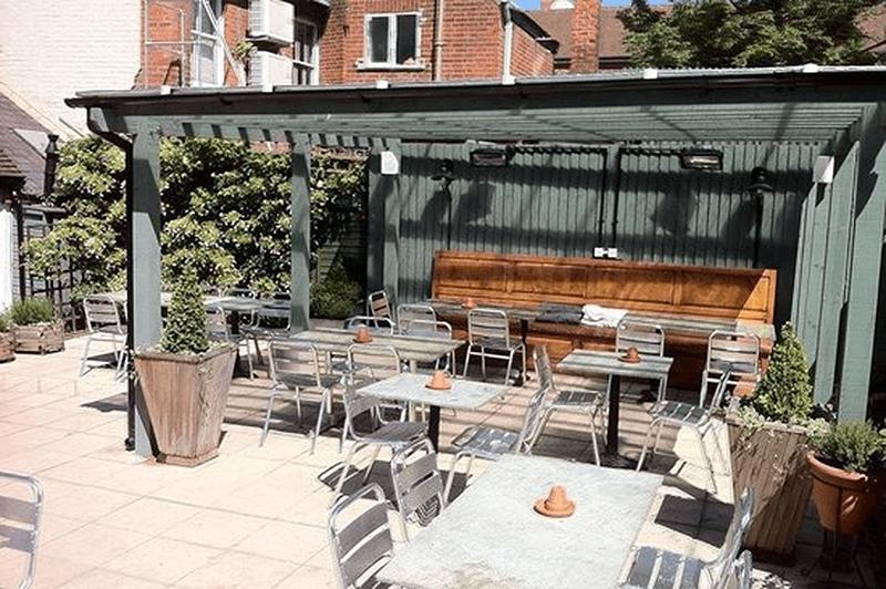 Restaurant Garden At Twenty5 Ipswich Suffolk