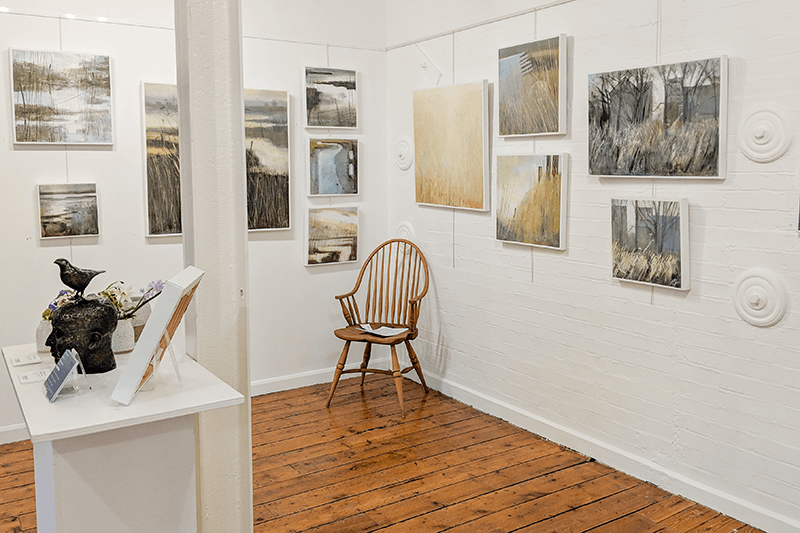 Interior shot of the Maltings Gallery Snape Malting